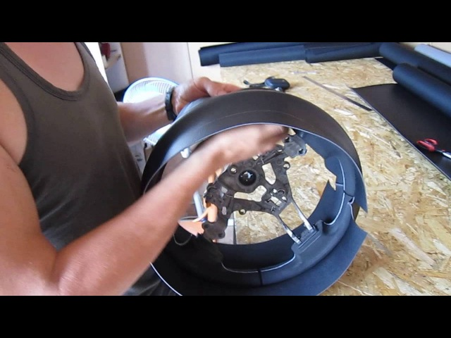 Перетяжка руля каучуковым материалом. Как правильно снять размер нижней части.