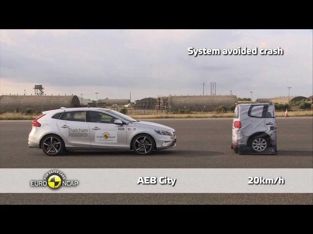 Volvo V40 - Euro NCAP 2013 AEB Test