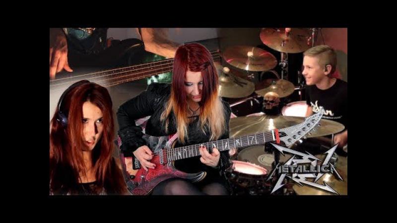 METALLICA For Whom The Bell Tolls COVER Jassy J Avery Drummer Sandra Szabo WhiteSlash