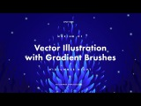 Making of Vector Illustration with Gradient Brushes: Midsummer Night