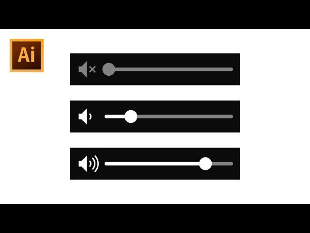 How to Draw Music Volume Bar - Adobe Illustrator