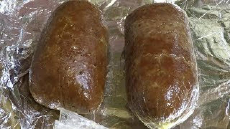 Колбаса печеночная домашняя из говяжьей или свиной печени в целлофанеsausage made from liver