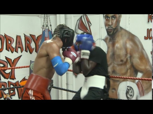 *EXCLUSIVE* Chris Eubank Jr Sparring Chris '2Slick' Kongo Ahead Of Fight With Abraham