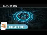 How To Create a Scifi HUD Element in Blender! - Blender Tutorial