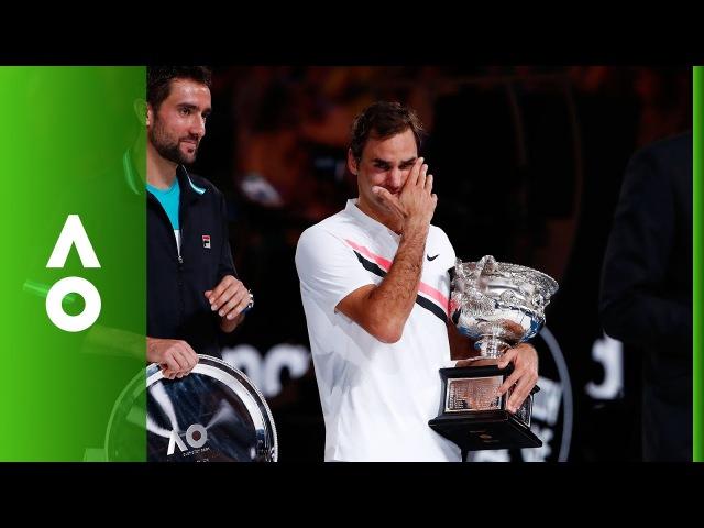2018 АО Roger Federer Men's Singles ceremony | Australian Open 2018
