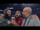 LeBron Videobombs Andre Drummonds Interview Cavaliers vs Pistons Jan 30 2017-18 NBA Season