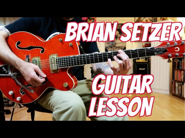 Solo like Brian Setzer - Guitar Lesson w/tabs