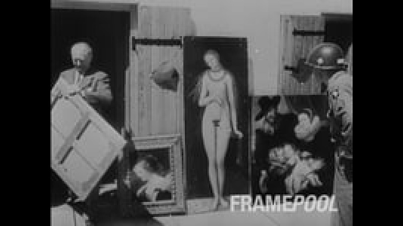 Nazi looted Art in Germany 1945 The real Monuments Men at work