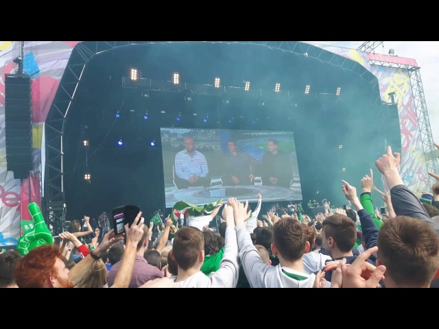 Will Griggs On Fire Chant, Belfast Fanzone vs Germany