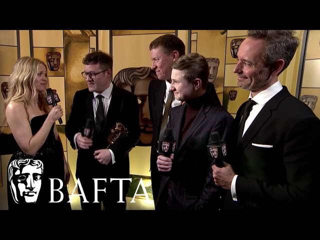 British Short Film Winner Cowboy Dave Backstage Interview   EE BAFTA Film Awards 2018