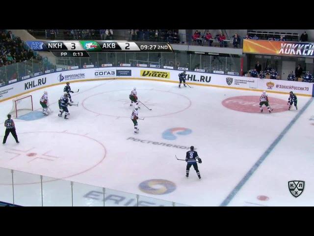 Моменты из матчей КХЛ сезона 1617 • Гол. 42. Порядин Павел (Нефтехимик) увеличивает преимущество в счете 31.01