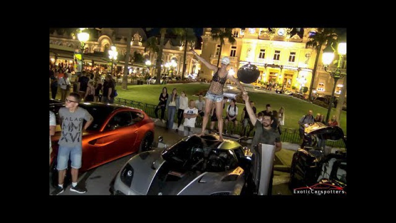 Girl Drives a 1360HP Koenigsegg ONE:1 in Monaco - Start Up Loud Accelerations !