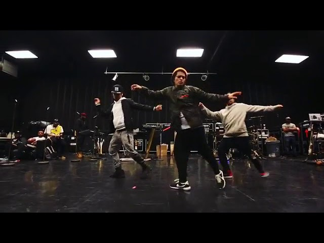 Bruno Mars Rehearsing for the Grammy's ~Finesse~