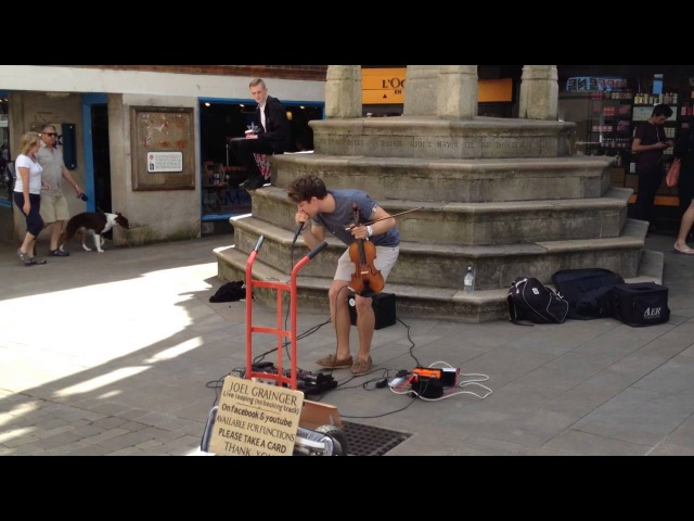 Joel Grainger - Pachelbels Canon - Violin and Loop Station Busking in Winchester