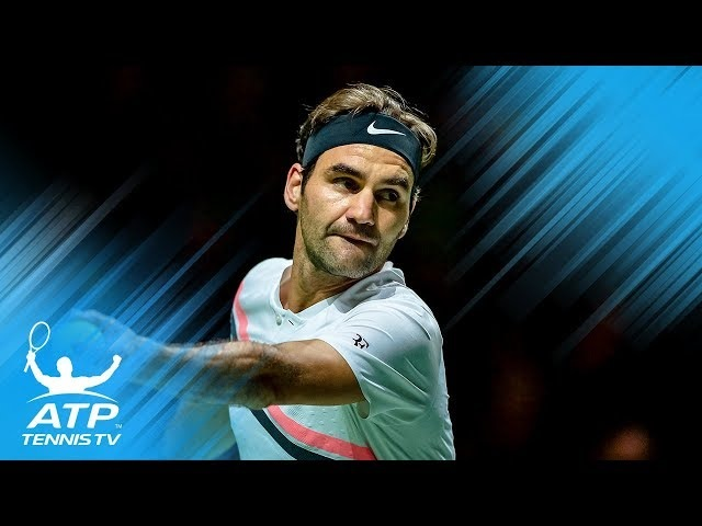 FUNNY: Roger Federer calling own serve out! | Rotterdam 2018 Quarter-Final