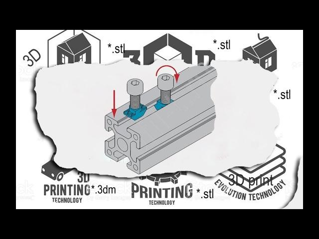 3D печать Т-образной гайки на китайском 3D принтере. Закрытый тип корпуса принтера