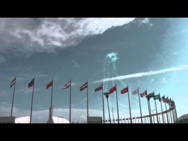 Авиашоу над Олимпийским парком в Сочи