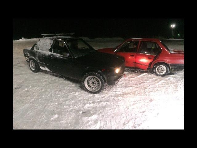 BMW CLUB МОЗЫРЬ Первый снег Валим боком