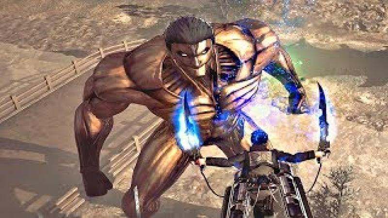 ATTACK ON TITAN 2 - Reiner ARMORED TITAN vs Mutant ARMORED TITAN Boss Fight