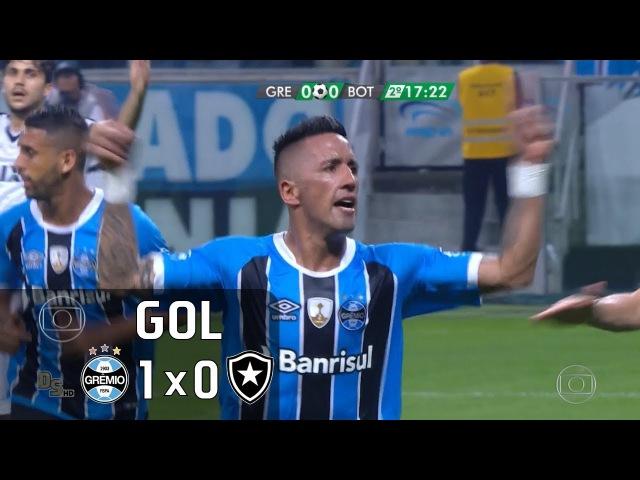 Gol Grêmio 1 x 0 Botafogo Libertadores 2017 Globo HD