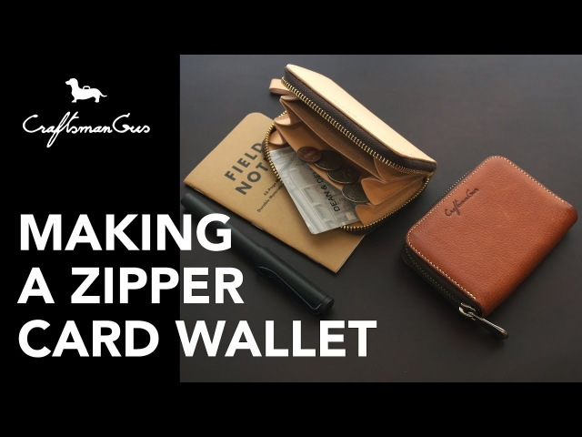Making Leather Wallet Zipper Card Wallet LeatherAddict EP28