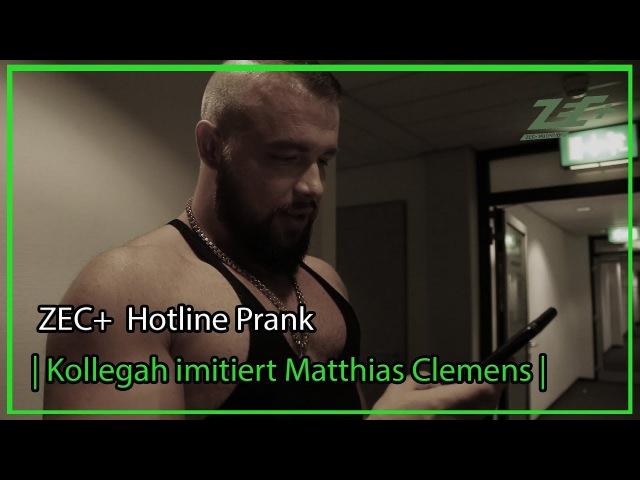 ZEC Hotline Prank Kollegah imitiert Matthias Clemens
