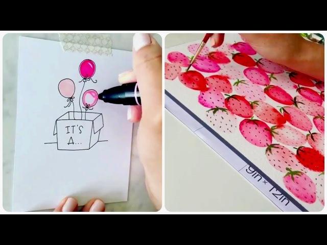 Простые рисунки, которые сможет нарисовать каждый! 😉 Уроки рисования ПОЭТАПНО для начинающих