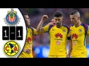 Mexico- Chivas vs America 1-1 Resumen Goles Liga MX 2018