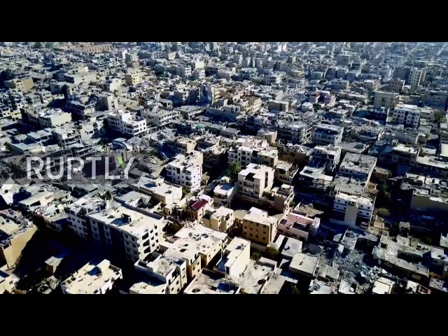 Syria: Drone shows devastated Raqqa after SDF liberation from IS