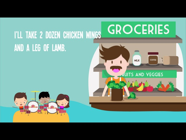 Shopping At The Grocery Store   Kids Songs   Nutrition   Food   Nursery Rhymes