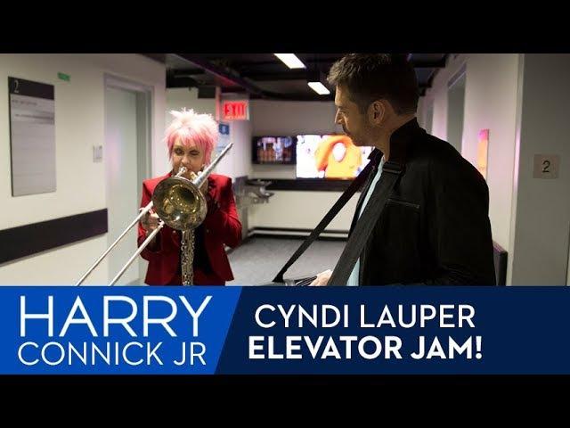 Elevator Jam with Cyndi Lauper!