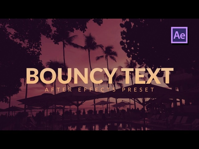 Bouncy Text Characters Animation in After Effects Premiere Pro Tutorial
