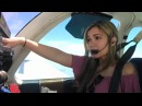 Lucy's First Flight Flying Around Storms in a Beechcraft Baron!