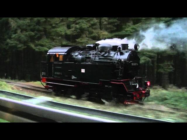 Dampflok 99 6001 auf Überführung (ohne Zug)