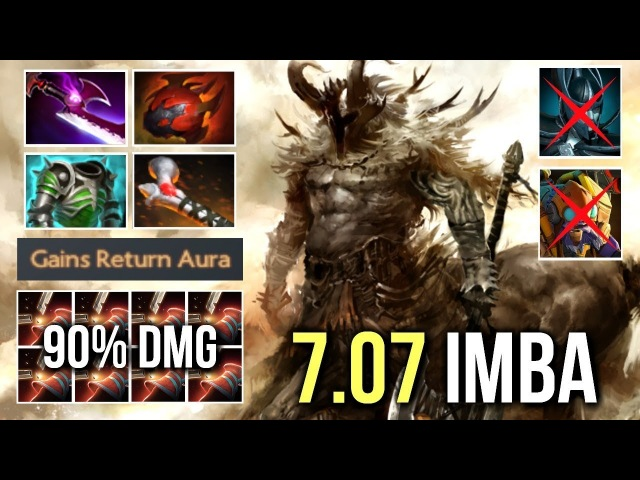 NEW META IMBA BUILD 7.07 Centaur Counter PA 90% Damage Return Aura by Inmate Epic Gameplay Dota 2