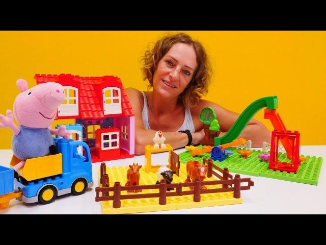 Peppa Wutz Spielzeug 🐽 Schorsch spielt mit Lego 🎊 Peppa Wutz auf Deutsch 💖 Peppa Wutz Videos