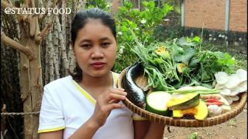 Awesome Cooking Soup Fish With Vegetable (Pumkin) Recipe - Cook Fish Recipes - Village Food Factory