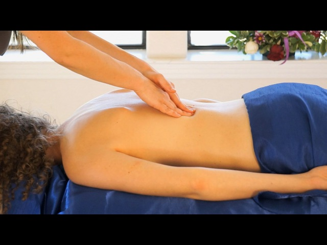 Swedish Massage Therapy Techniques; Back Massa Relaxing Spa Beauty Music ASMR