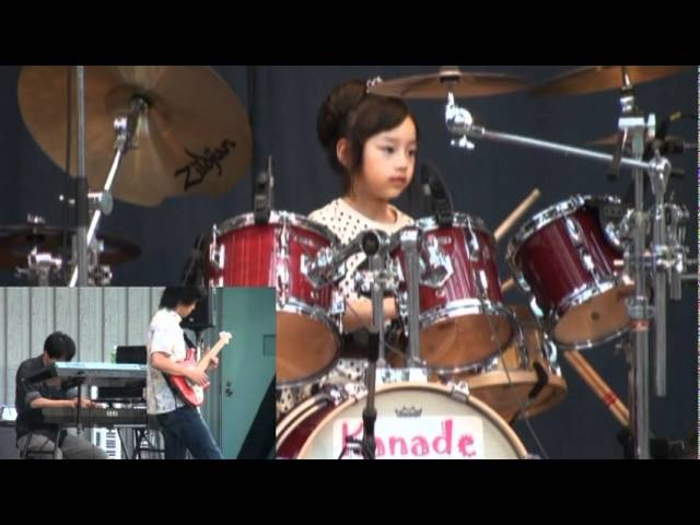 Mid Manhattan Casiopea(cover) by 8years Drummer Girl