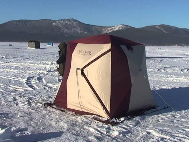 Снегирь 3Т с системой крепления пола в нутри палатки и полом ПВХ