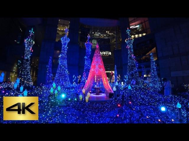 TOKYO X'MAS LIGHTS 🎄| 2017 Caretta Shiodome (Beauty and the Beast) カレッタ汐留 (美女と野獣) [4K]