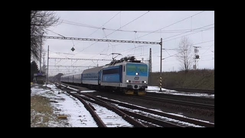Šocení | Vlaky ve stanici Drahotuše 20.1.2018