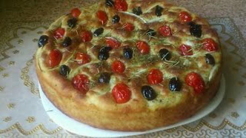 خبزة فوكاشيا الايطالية بلمسة مغربية focaccia bread ال 1