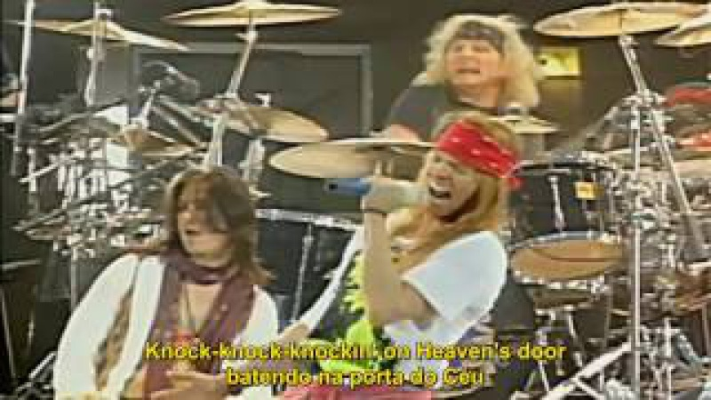 Guns N' Roses - Knockin' On Heaven's Door (Live) Legendado em PT/ENG