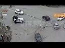 В центре Уфы после ДТП автомобиль отбросило на пешехода