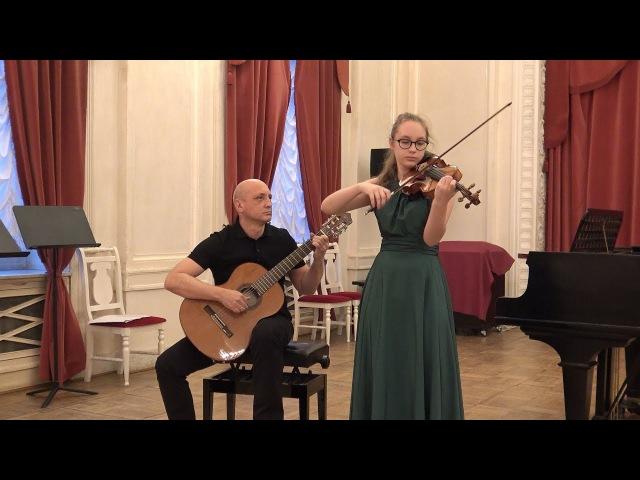 Никколо Паганини. Соната №6 для скрипки и гитары e-moll Op.3
