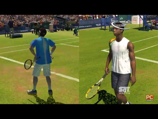 Roger Federer vs Gaël Monfils. Wimbledon. Virtua Tennis 3 (2 part)