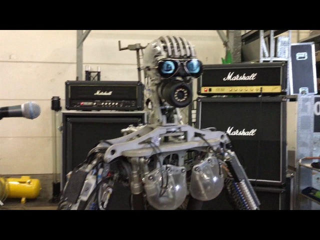 Compressorhead Robot Band Performance in Berlin Spandau