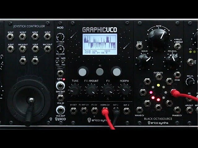 Erica Synths Graphic VCO sound demo