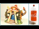 ❣DIY Log Fairy House Lamp Using a Coke Plastic Bottle❣
